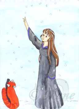 HOL - Mene and Ryn in the snow by mene