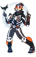 October 1- Skeleton Dax by DesertDraggon