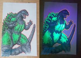 Blacklight Goodness - Reactor Glow Godzilla by AlmightyRayzilla