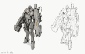 Mech Suit Sketch by Bri-in-the-Sky