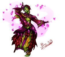 Dancing Sylvari by TheSnowZombie