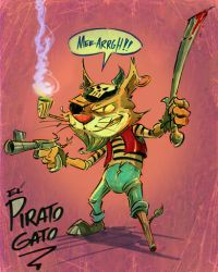 Gato Pirato by jusscope