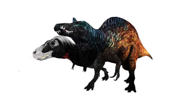Rex and Spino by ultamateterex2