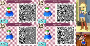 Animal Crossing: New Leaf QR Code - Applejack by MysteryMoonbeam