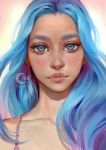 Blue Hair Lady by Selenada