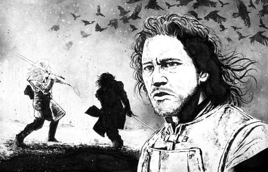 Jon Snow / Games of Thrones by jasonbaroody