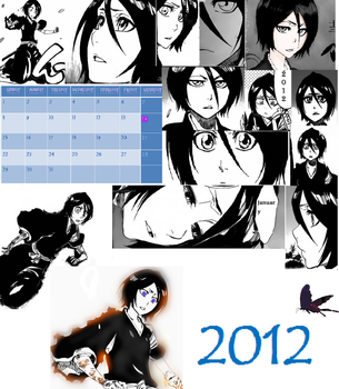 Jaunary calender uncoloured by mystery18knight