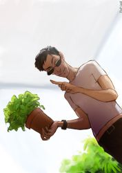 Good Omens - Green Fingers by Pika-la-Cynique