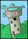 Happy Aqua Tower - Tableau by Saza-Productions
