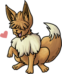 Fluffy Haired Eevee - SuMo Anime by Chari-Artist