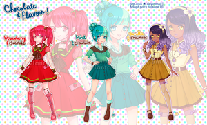 [CLOSED] Chocolate and Flavors Adoptables! by IsaCrisis