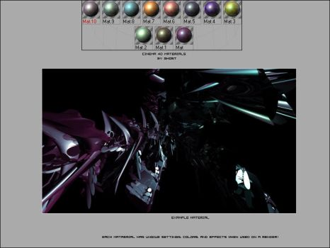 12 Cinema 4D Materials by Ghost-001-
