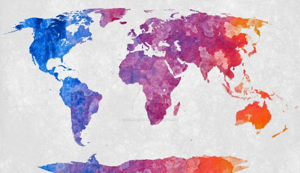World Map - Exclusive Abstract Acrylic by somadjinn