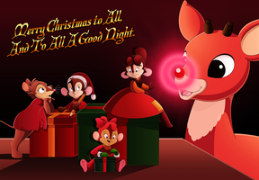 Rudolph x Bluth: A Very Shiny Christmas by BrisbyBraveheart