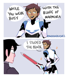 VOLTRON: WHILE YOU WERE BUSY...I STUDIED THE BLADE by Randomsplashes