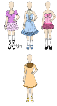 [Custom] Cute/Lolita Dresses by icerose05