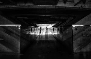 Yea, though I walk through the tunnel of shadow... by Roger-Wilco-66