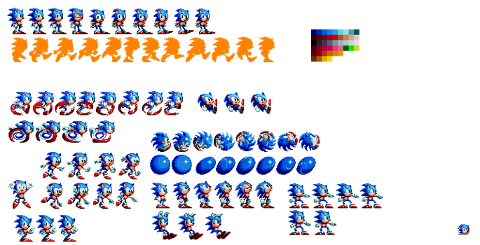 Mania Sonic Sprites (Retired) by Alex13Art