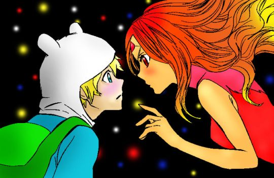 Finn and Flame Princess by QueenLydia