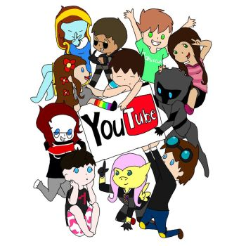 Chibi youtubers by Mewvulpix25