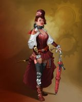 Steampunk Character 2 by mosingo