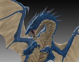 Blue Dragon - Mid 2016 Works 3 by TSRodriguez