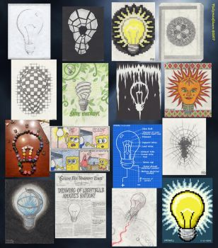 Weirdest Art Project Ever: Lightbulb Compilation by Platypusofdoom