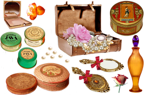 Vintage cosmetics - PNG by lifeblue