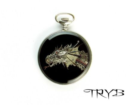 Dragon of watch parts - medallion by TRYBcomPL