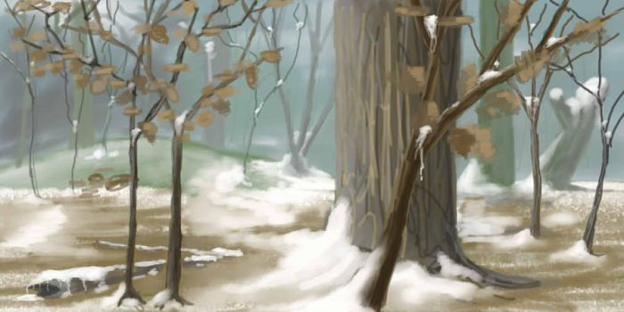 Early winter forest by Korodor