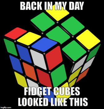 Back in my day, fidget cubes looked like this by befree2209