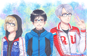 Yuri!!! On Ice Fanart by MintBunnyGirl
