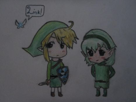 Link and Saria UNFINISHED by Axuww
