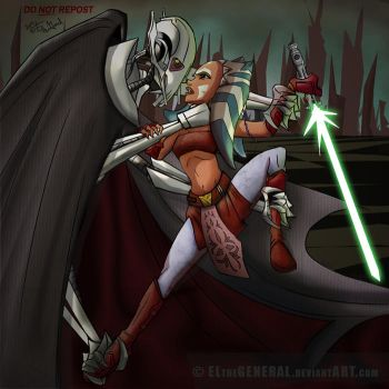 Grievous Chokes Ahsoka colored by ElTheGeneral