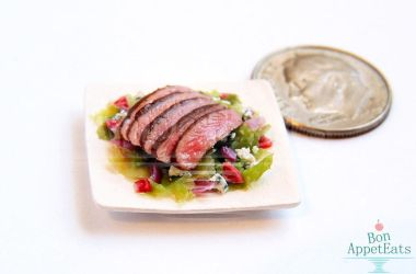 1:12 Steak Salad by PepperTreeArt