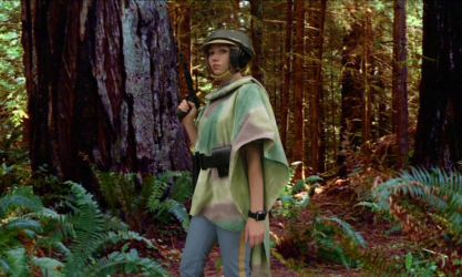 Leia on the Forest Moon by Verdaera