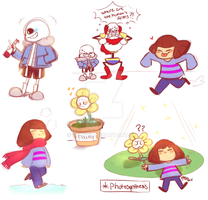 Undertale Sketches by Celebi9