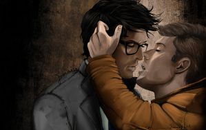 TWIST AND SHOUT Dean Cas Kiss by Franciswill