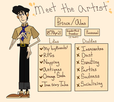 Meet the artist by Loveliestprince