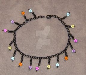 Inner Sun Chain Link Anklet by cardnial-wolf