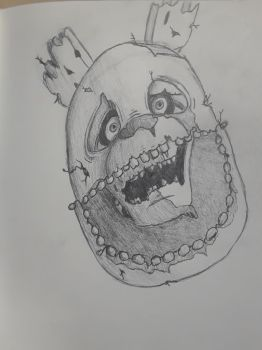 Springtrap Drawing WIP by Enforma