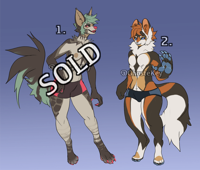 Anthro adopts ( sold ) by GhosteKey