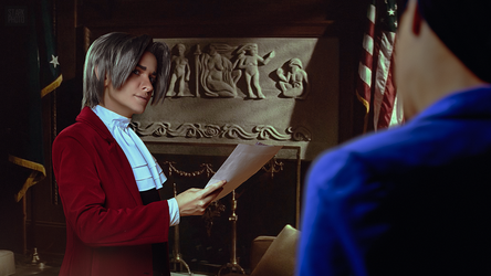 Miles Edgeworth cosplay [13/13] by Jehan-Lavellan