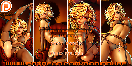Patreon November 2017 Art Pack! by RoninDude