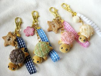 Kameronpan: Turtle Melon Bread Bag Keychains by KeoDear