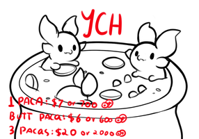 PACA YCH: This is a bath, totally. by Lighterium