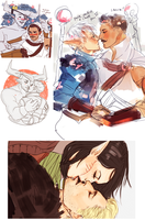 inquisition romance sketchdump thing by liberandam
