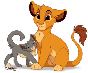 Simba and Kattja by Kamirah