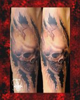 skull with border by drksoul666