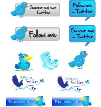 vector twitter pack by C100D17